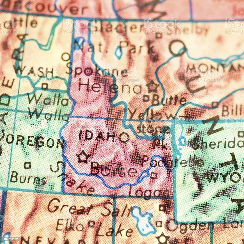 Travel the Globe Series - Idaho stock photo