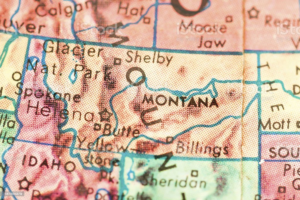 Travel the Globe Series - Montana stock photo