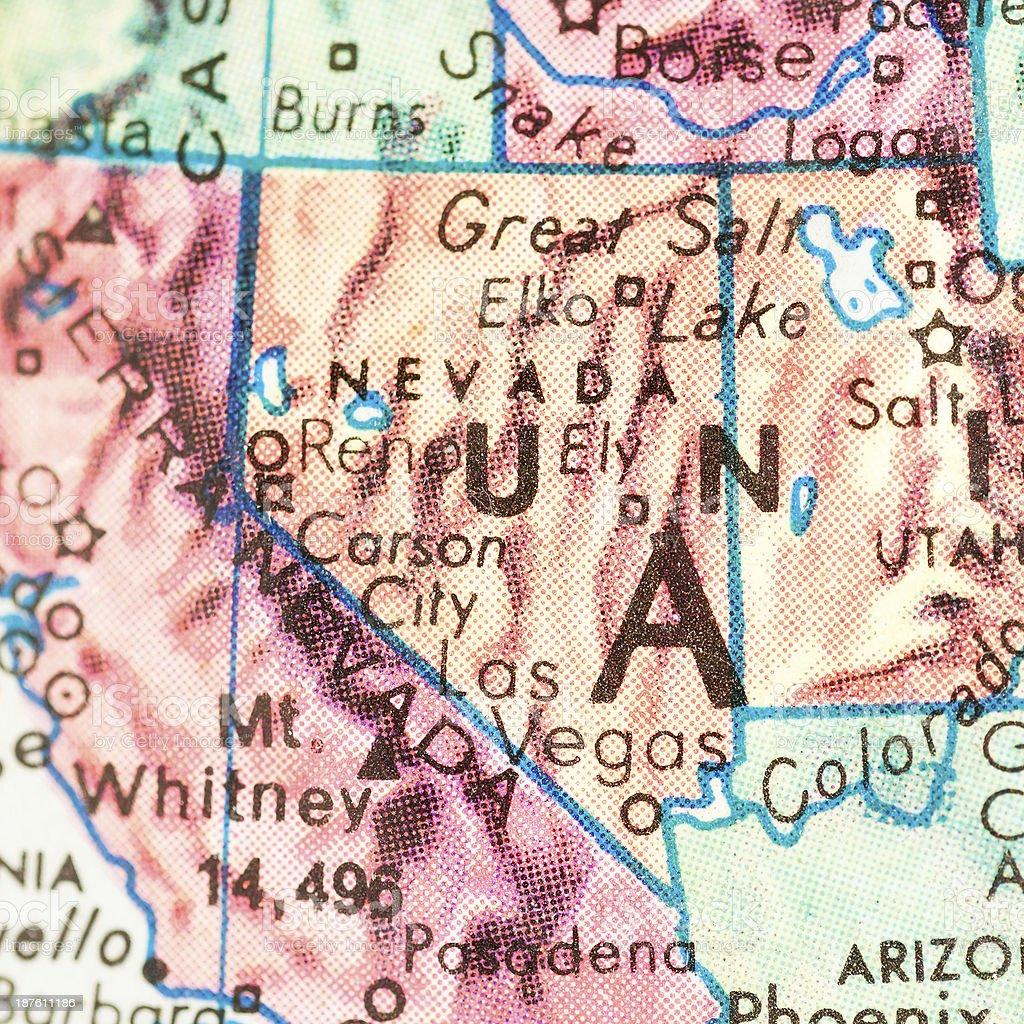 Travel the Globe Series - Nevada royalty-free stock photo