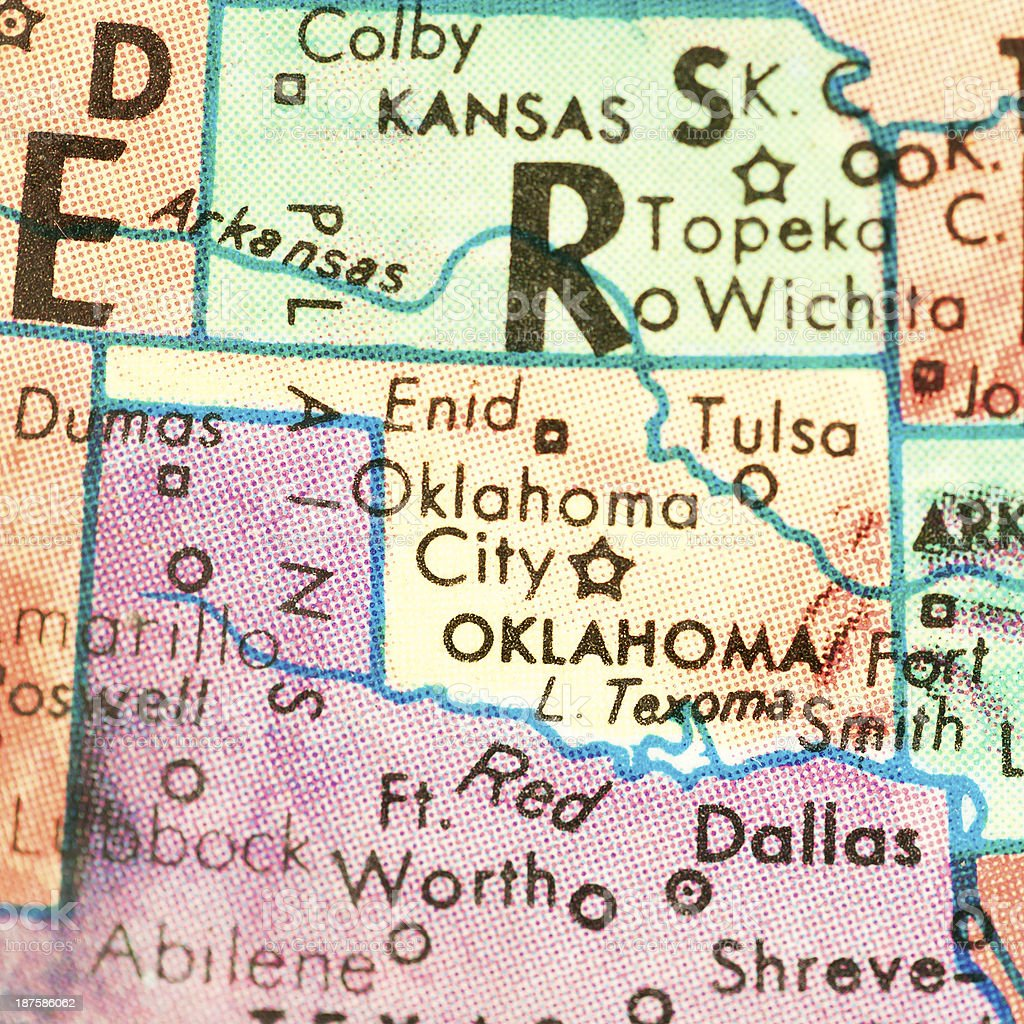 Travel the Globe Series - Oklahoma royalty-free stock photo