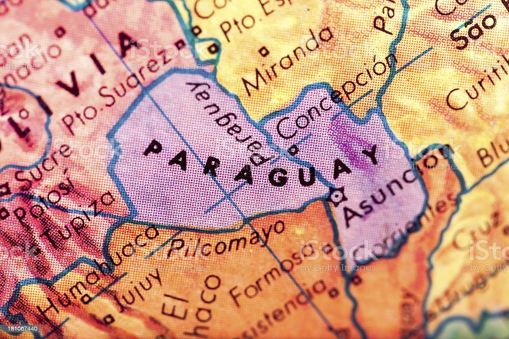 Travel The Globe Series - Paraguay royalty-free stock photo