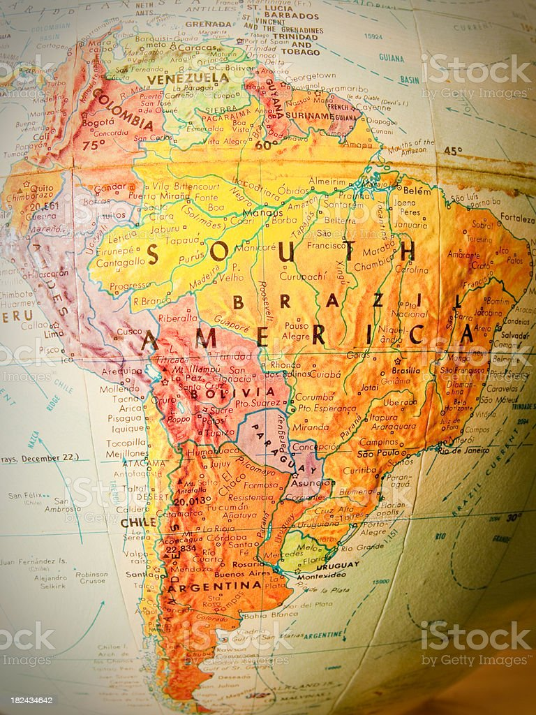 Travel the Globe Series - South America royalty-free stock photo