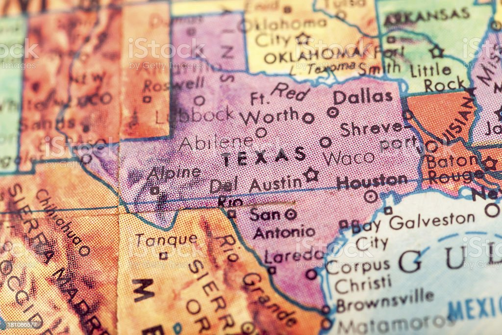 Travel The Globe Series - Texas stock photo