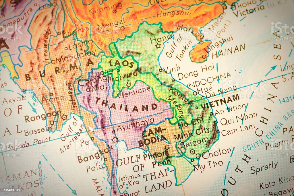 Travel the Globe Series - Thailand and Bordering Countries stock photo