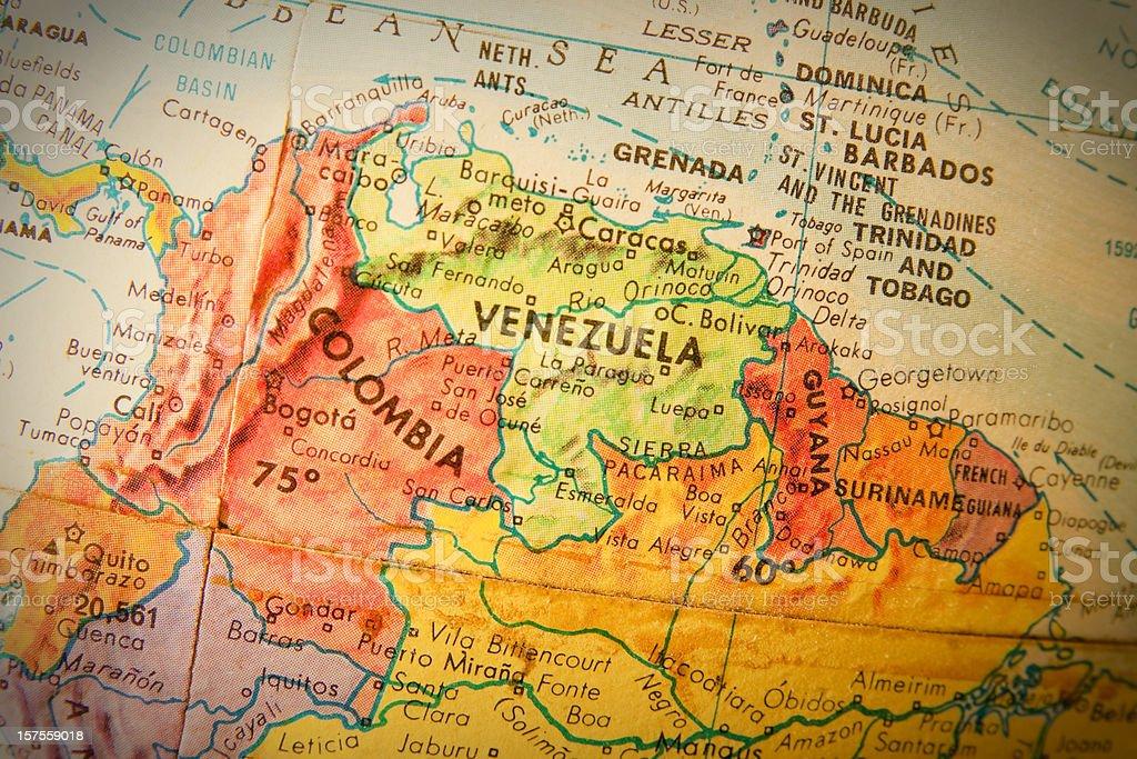 Travel The Globe Series Venezuela Columbia And Guyana Stock Photo