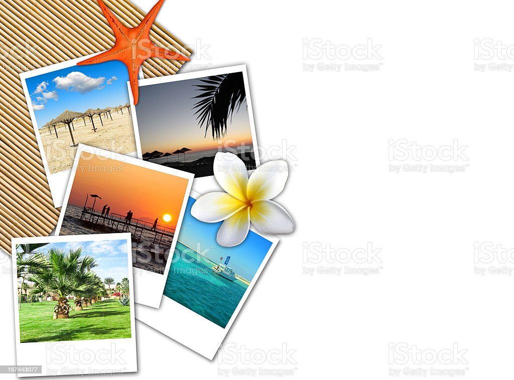 Travel theme collage stock photo