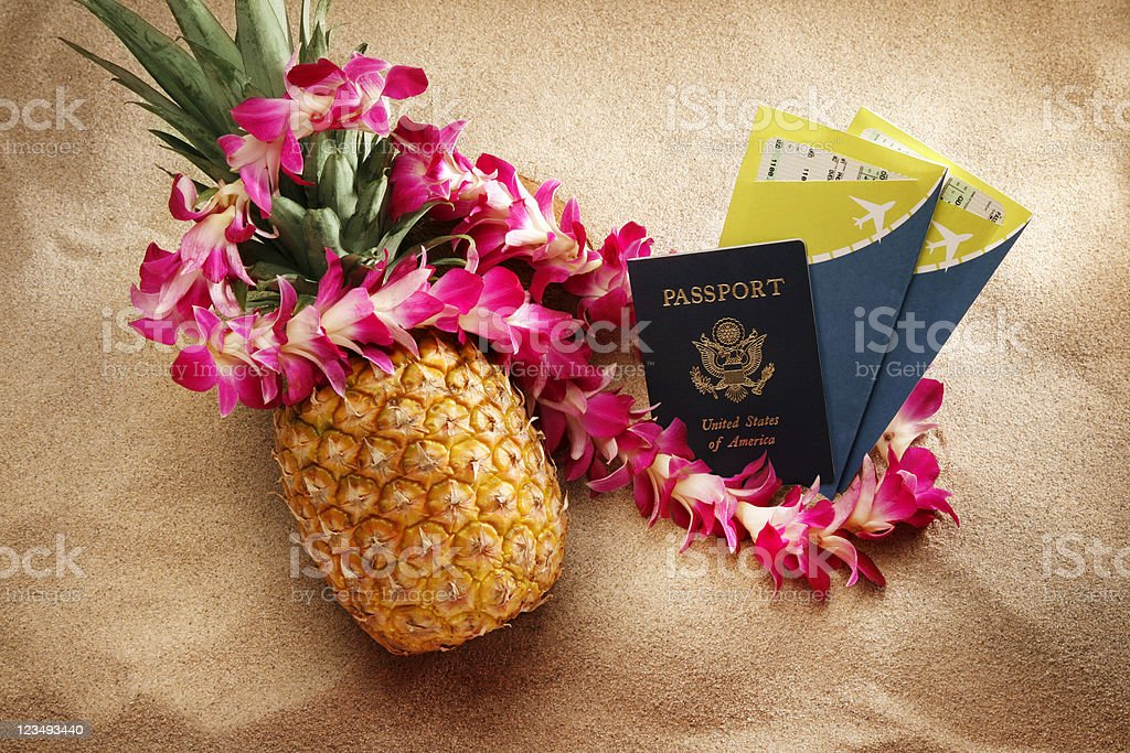 travel to a tropical island royalty-free stock photo