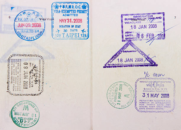Travel to Asia Malaysia passport travel to Asia  pasport malaysia stock pictures, royalty-free photos & images