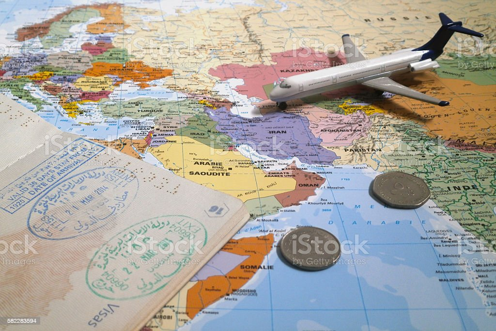 Travel to Dubai stock photo