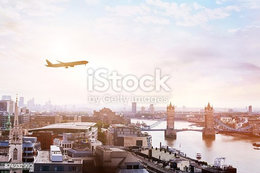 istock travel to London by flight 874932992