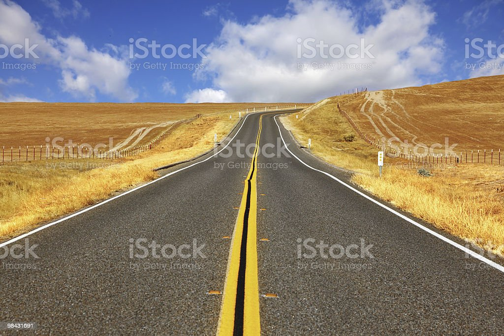 Travel to steppes  on  highway royalty-free stock photo