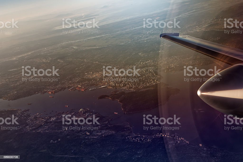 Amazing Travel To Vancouver Window Seat View Stock Photo Download Machost Co Dining Chair Design Ideas Machostcouk