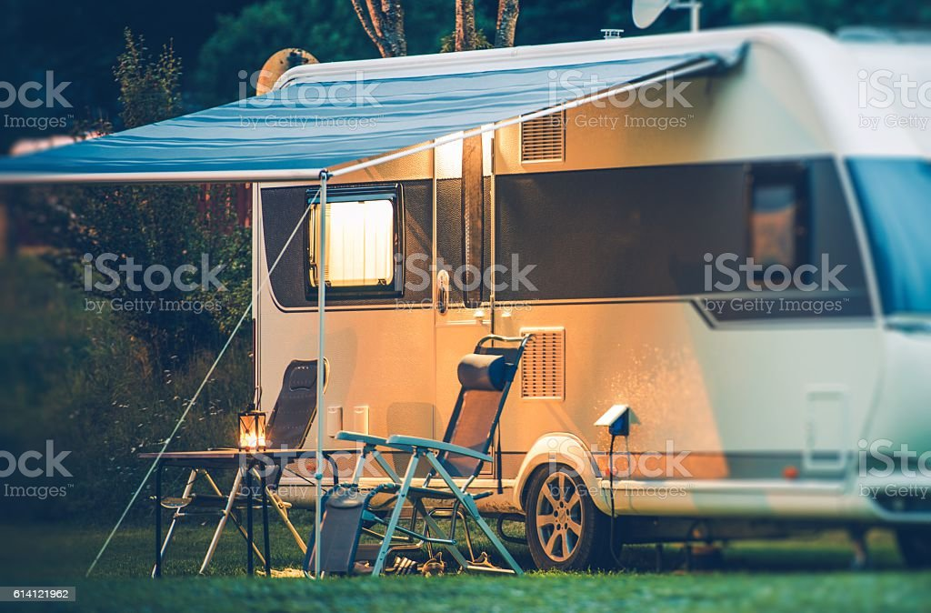 Travel Trailer Caravaning stock photo