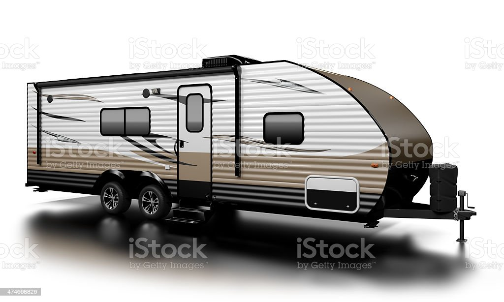 Travel Trailer stock photo