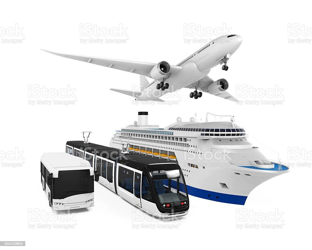 Travel Transportation Group stock photo
