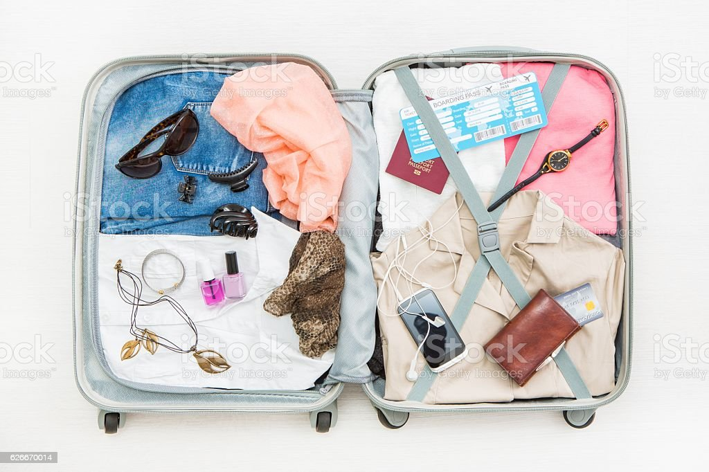 travel traveler traveling bag top open concepts royalty-free stock photo