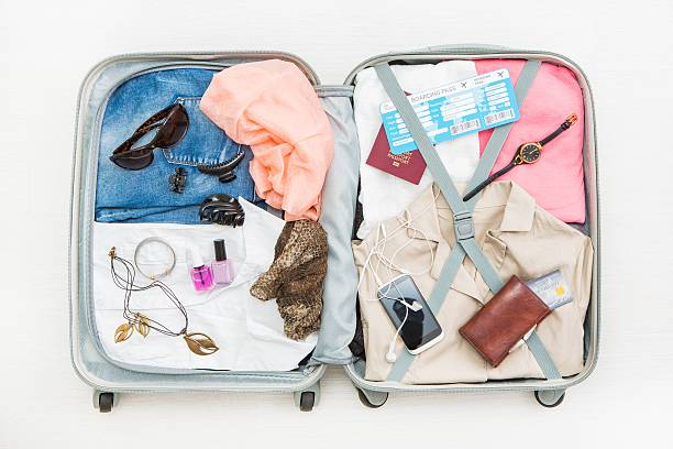 travel traveler traveling bag top open concepts - foto de stock