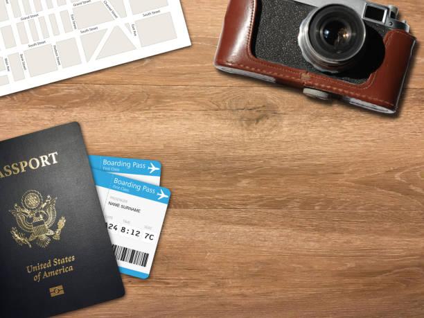 Reise-Reise Planungsschalter Top-Ansichtskamera – Foto