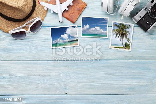 istock Travel vacation background concept 1076519526