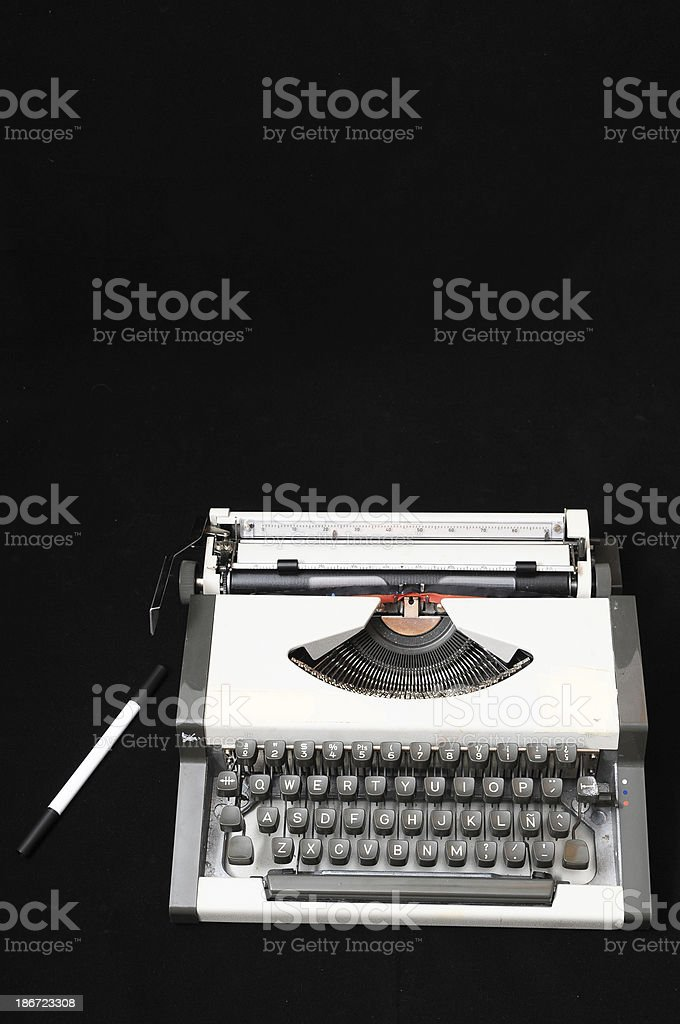 Travel Vintage Typewriter royalty-free stock photo