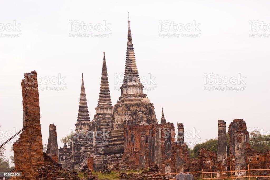 Travel :- Wat Phra Si Sanphet Ayutthaya stock photo