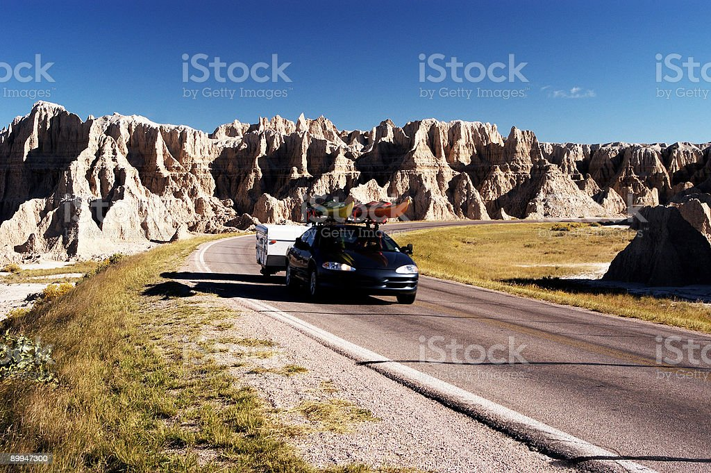 Travel with Kayaks royalty-free stock photo