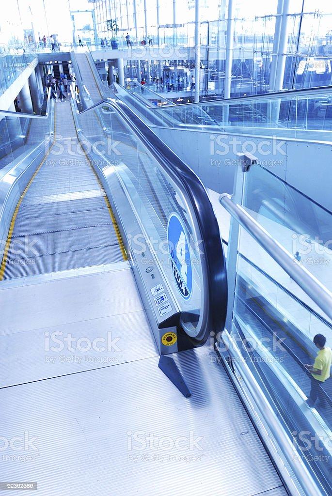 Travelator in airport royalty-free stock photo