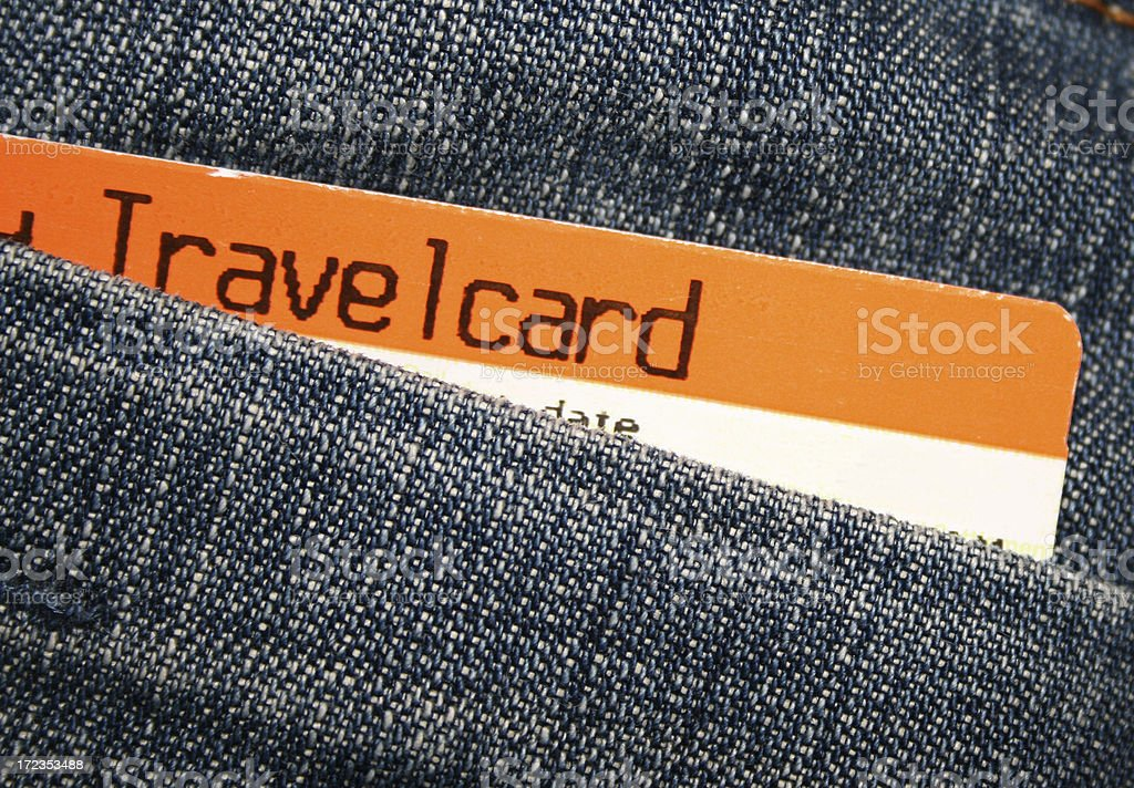 Travelcard stock photo