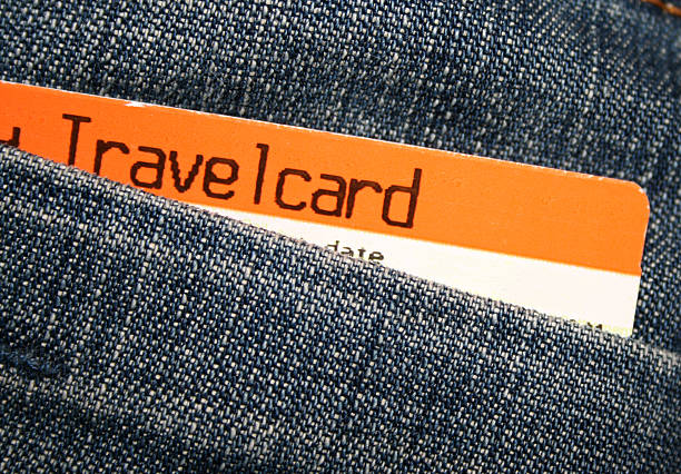 Travelcard Travelcard in back pocket train ticket stock pictures, royalty-free photos & images