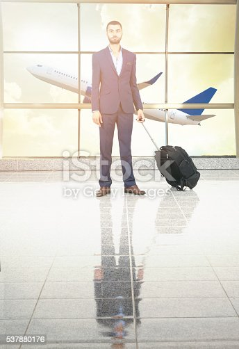 509630674 istock photo traveler in airport on sunset 537880176