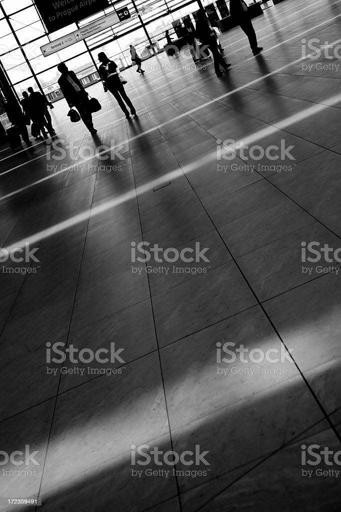 Traveler in airport royalty-free stock photo
