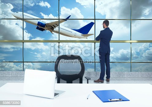 509630674 istock photo traveler in airport 538673050