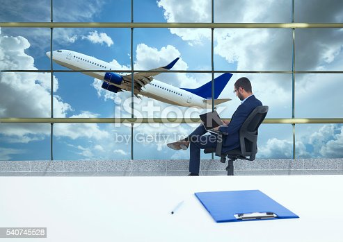 509630674 istock photo traveler in airport 540745528