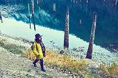 istock Traveler Looks at Landscape 1073229382