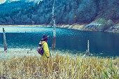 istock Traveler Looks at Landscape 1073229412