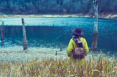 istock Traveler Looks at Landscape 1073229414