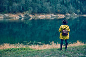 istock Traveler Looks at Landscape 1073229446