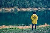 istock Traveler Looks at Landscape 1073229456