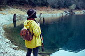 istock Traveler Looks at Landscape 1073229484