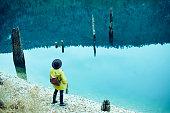 istock Traveler Looks at Landscape 1073229738