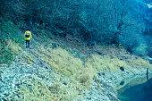 istock Traveler Looks at Landscape 1073229796