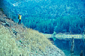 istock Traveler Looks at Landscape 1073229832