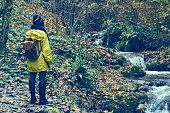 istock Traveler Looks at Landscape 1073230220