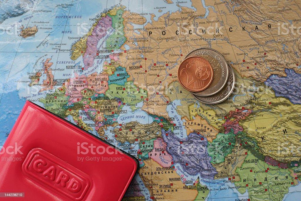 traveler map royalty-free stock photo