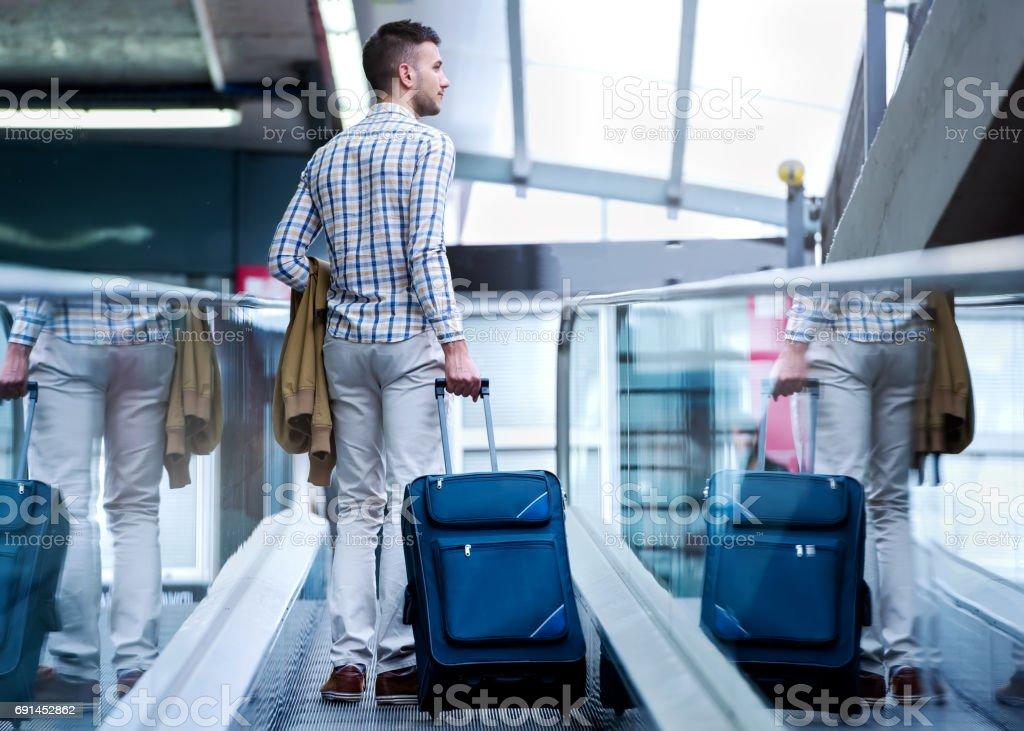 Traveler Suitcase stock photo
