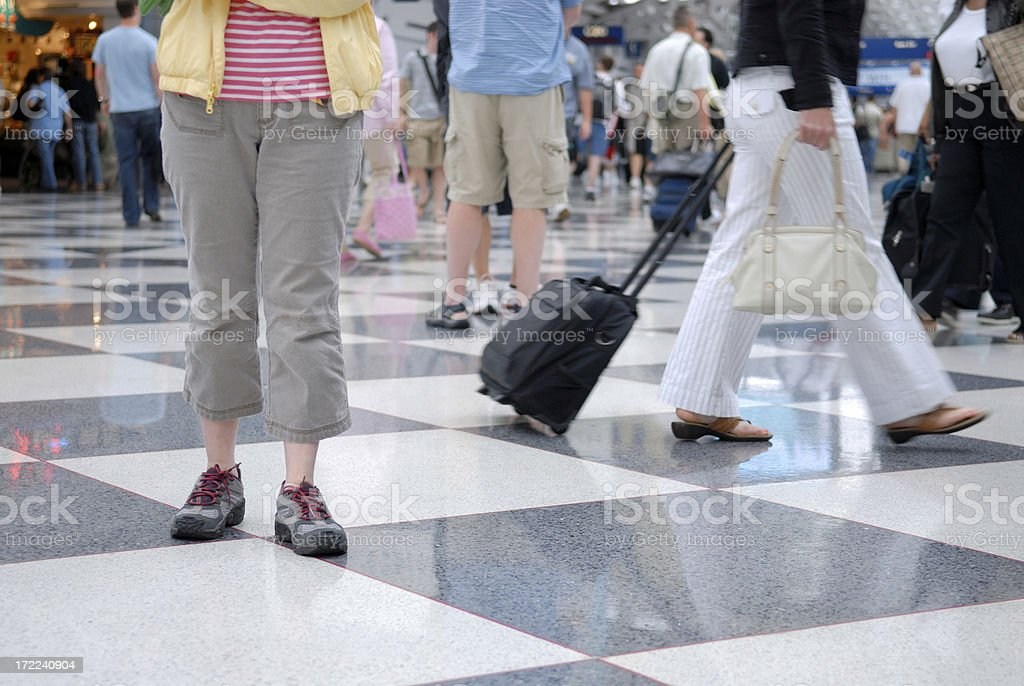 Travelers at Airport royalty-free stock photo