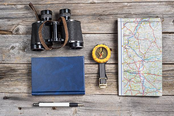 Traveler's equipment stock photo