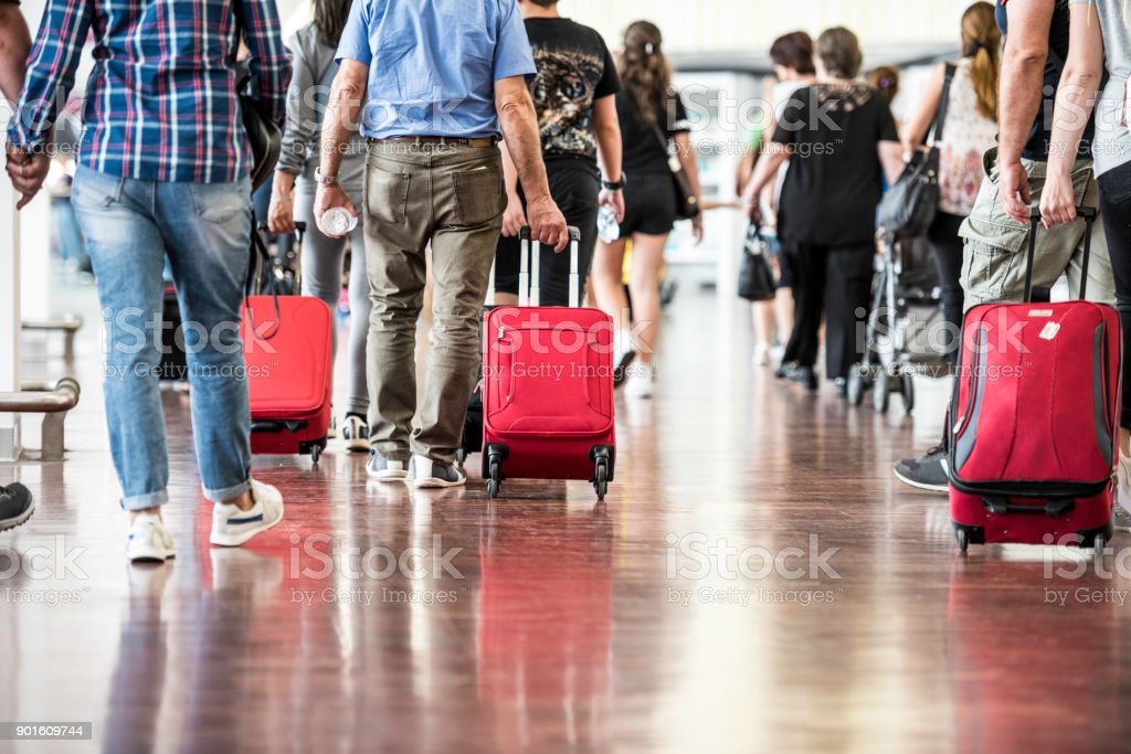 Travelers in Airport stock photo