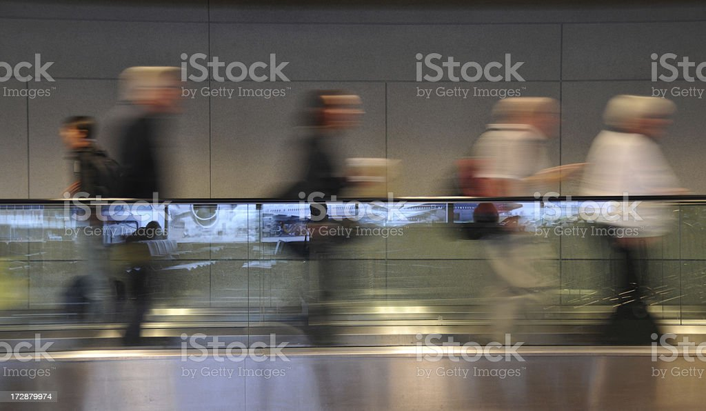 Travelers on the Move royalty-free stock photo