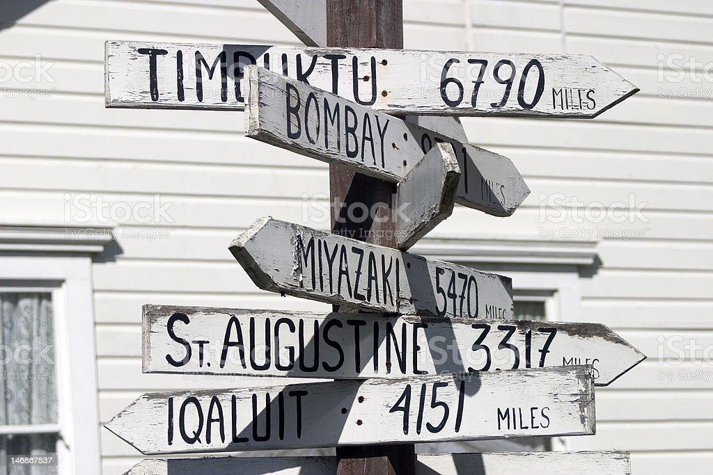 Traveler's Signpost royalty-free stock photo